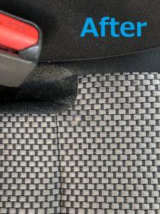 自動車シート 焦げ穴 リペア