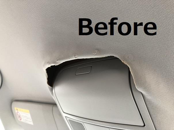 VWゴルフ5 ルーフの剥がれ・天井落ち リペア修理|千葉市 習志野市