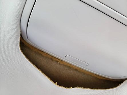 VW ゴルフ6 天井落ち・剥がれ ルーフ張り替え|千葉市 市原市