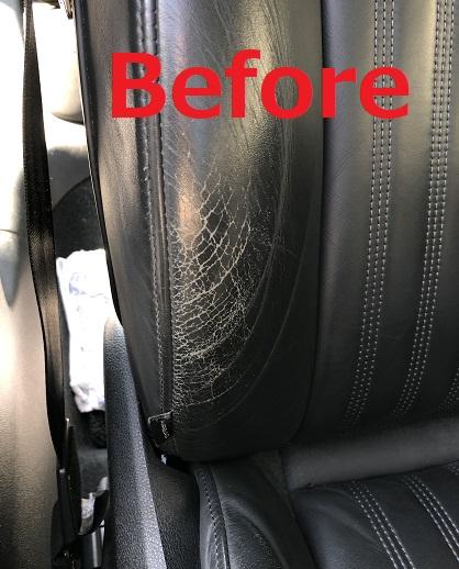 アウディA6アバント レザーシート擦れ劣化の補修リペア|千葉市