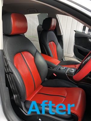 アウディA7スポーツバック シートカラーチェンジ色替え|千葉市 茂原市