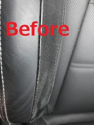 ベンツ E53 AMG レザーシートパイピング部の擦れ補修リペア|千葉 浦安
