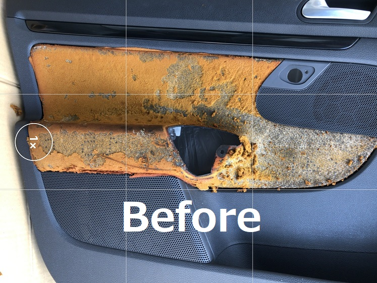 VWゴルフ5GT TSI ドア内張剝れ リペア補修|千葉市