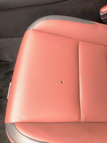 レクサスNX300h レザーシートたばこ焦げ穴の補修リペア|千葉市 八街市