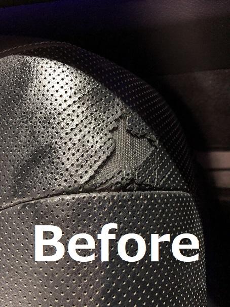 レクサスLS600h レザーシート破れの補修リペア|千葉市